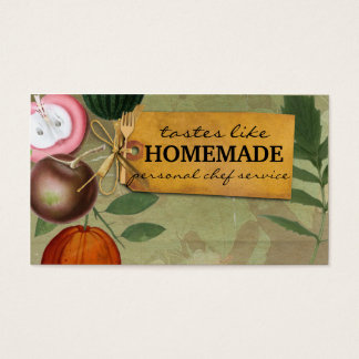 shabby chic vintage fruits cooking baking biz card