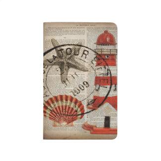 shabby chic vintage lighthouse sea shells journal