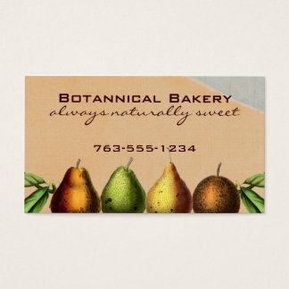 shabby chic vintage pears fruit baking biz cards