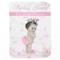 Shabby Chic Vintage Pink Princess Girl Baby Swaddle Blanket