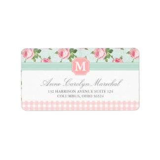 Shabby & Chic Vintage Rose Floral Personalized Labels