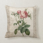 Shabby Chic Vintage Roses French Antique Pillow
