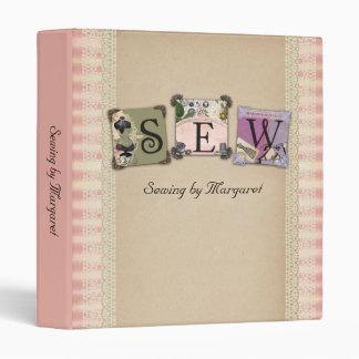 Shabby chic vintage sewing crafts binder
