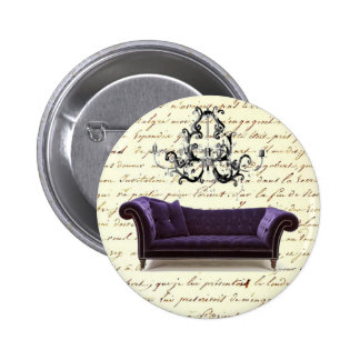 Shabby Chic Vintage Sofa Chandelier Save The Date Pins