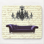 Shabby Chic Vintage Sofa Chandelier Save The Date Mousepads