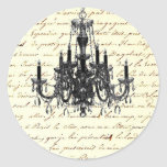 Shabby Chic Vintage Sofa Chandelier Save The Date Sticker