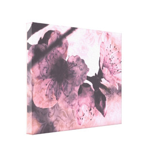 Shabby Chic Vintage style Peach Blossoms Stretched Canvas Prints