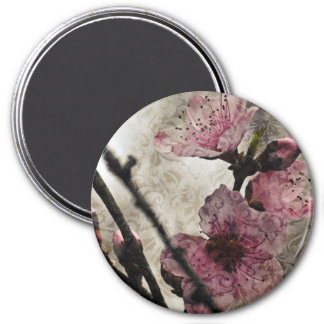 Shabby Chic Vintage Style Peach Blossoms Fridge Magnets