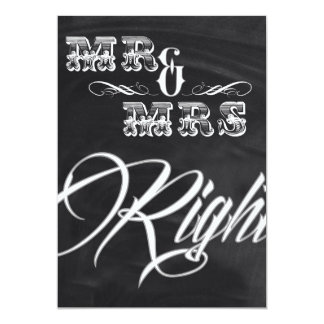 shabby chic vintage typography mr and mrs card