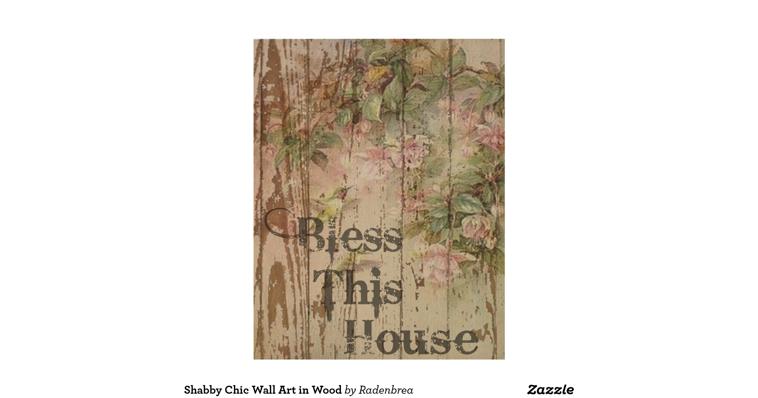 shabby chic wall art in wood wood wall art