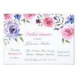 Shabby Chic Watercolor Flower Bridal Shower Script Card