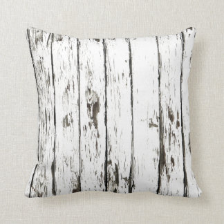 Shabby Chic Weathered Board Throw Pillow