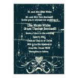 "Shabby Chic Wedding Invitation 5"" X 7"" Invitation Card"