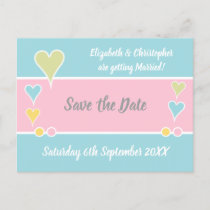 Shabby Chic Wedding Save the Date Announcement Postcard