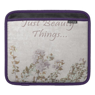 Shabby Chic With Quote iPad Sleeve