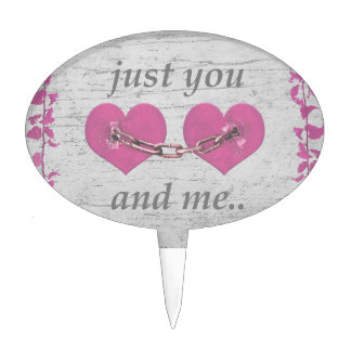 Shabby Chich Love Concept Poster Cake Topper