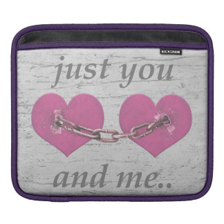 Shabby Chich Love Concept Poster iPad Sleeve