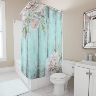 Shabby Country Chic Shower Curtain