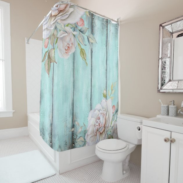 Shabby Country Chic Shower Curtain Zazzle Com