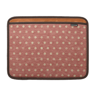 Shabby Dots MacBook Air Sleeve - rust & cream