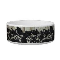 shabby elegance black lace grey barn wood bowl