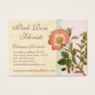 Shabby Elegance Vintage Chic Pink Dog Rose Business Card