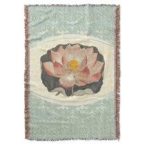 Shabby Elegance Vintage Lotus Blossom Throw