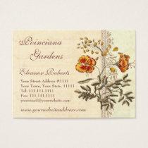 Shabby Elegance Vintage Poinciana Flowers Business Card