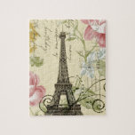 "shabby elegance yellow pink floral eiffel tower jigsaw puzzle<br><div class=""desc"">shabby elegance yellow pink floral eiffel tower home accessories. Romantic paris fashion accessories.</div>"