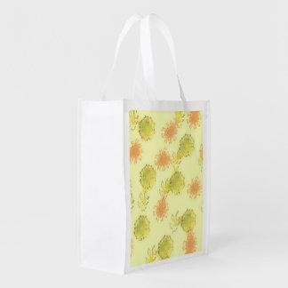 shabby floral 1 (I) Reusable Grocery Bag