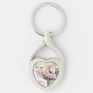 Shabby Floral Delights Keychain