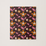shabby flower doodles pattern jigsaw puzzle