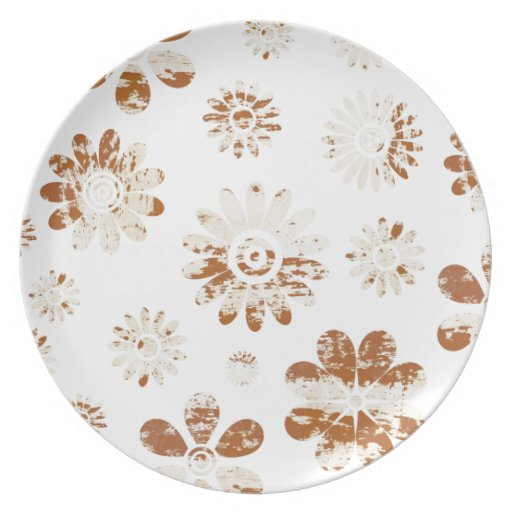 Shabby Flowers Dinner Plate