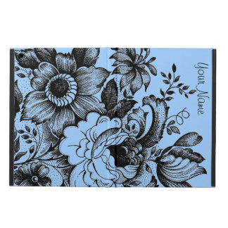Shabby Flowers Graphic Art Add Your Text Case For iPad Air