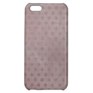 Shabby Grunge Style Dusky Pink Polka Dots Pattern iPhone 5C Covers