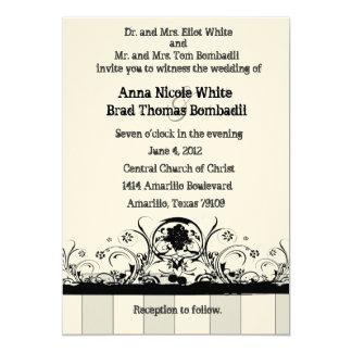 "Shabby Old West Wedding Invitation 5"" X 7"" Invitation Card"