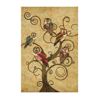 Shabby Owl Tree Canvas Canvas Prints