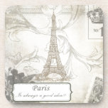 Shabby:  Paris is Always a Good Idea! Beverage Coaster