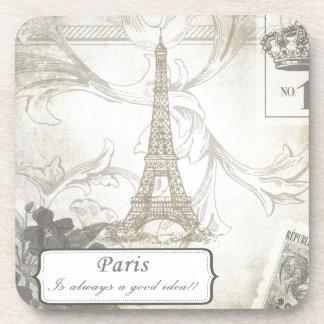 Shabby:  Paris is Always a Good Idea! Beverage Coaster