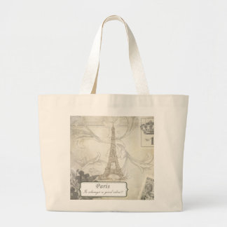 Shabby:  Paris is Always a Good Idea! Large Tote Bag