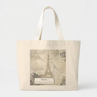 Shabby:  Paris is Always a Good Idea! Large Tote Bag