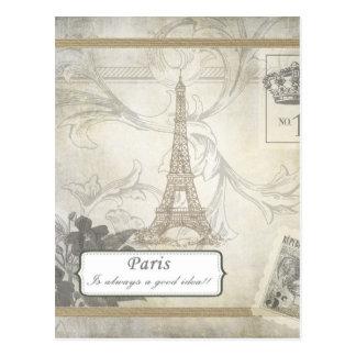 Shabby:  Paris is Always a Good Idea! Postcard