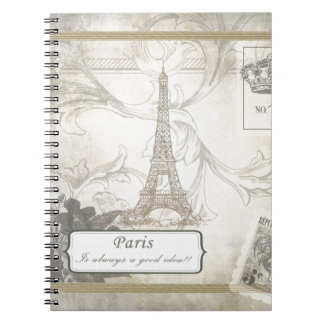 Shabby:  Paris is Always a Good Idea! Spiral Notebook