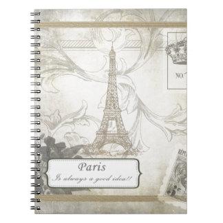 Shabby:  Paris is Always a Good Idea! Spiral Notebook