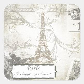 Shabby:  Paris is Always a Good Idea! Square Sticker