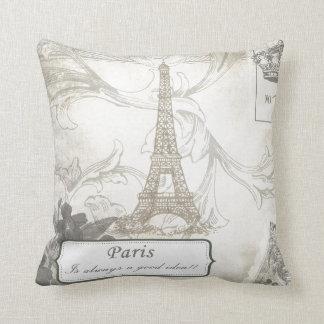 Shabby:  Paris is Always a Good Idea! Throw Pillow