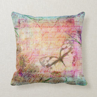 Shabby pastel decorative cushion