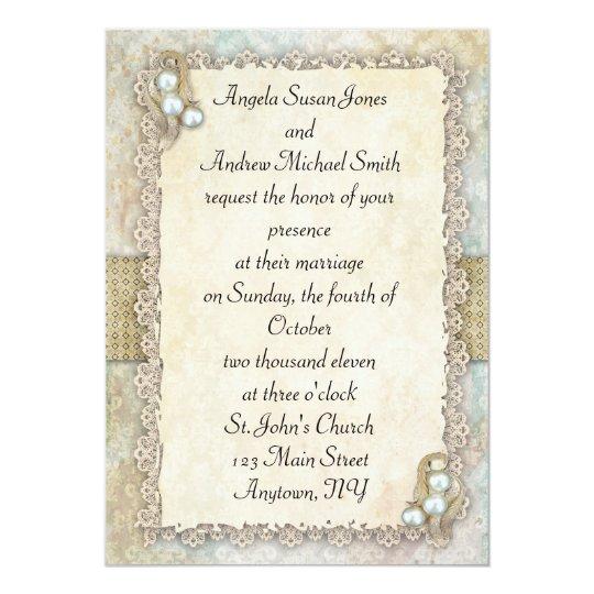 Shabby Pearls Card