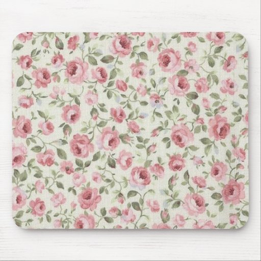 SHABBY PETITE PINK ROSES MOUSE MATS