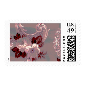 Shabby Pink Floral Postage